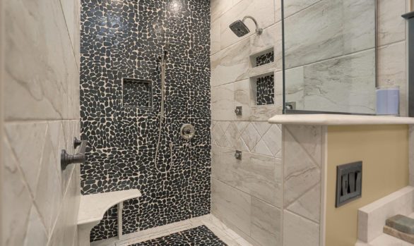 Master Bath with Tile Shower